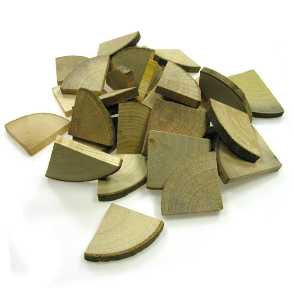 천연나무조각(자) 4등분원형_100g
