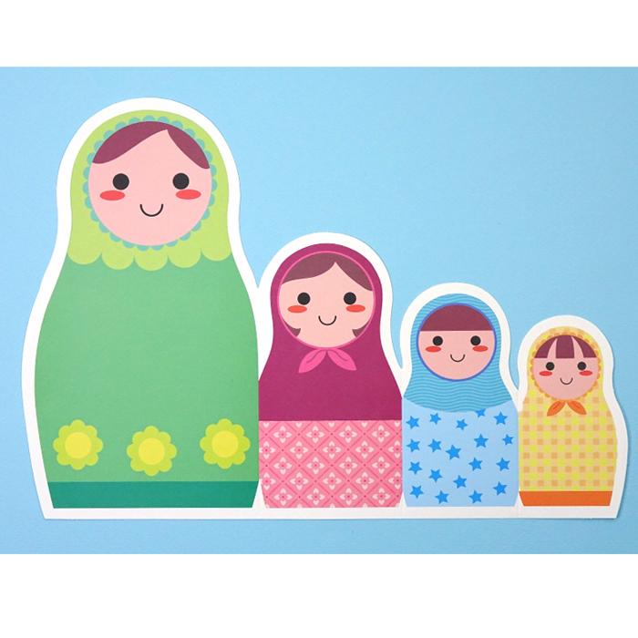 러시아인형카드