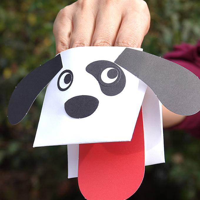 종이접기_짖는 강아지