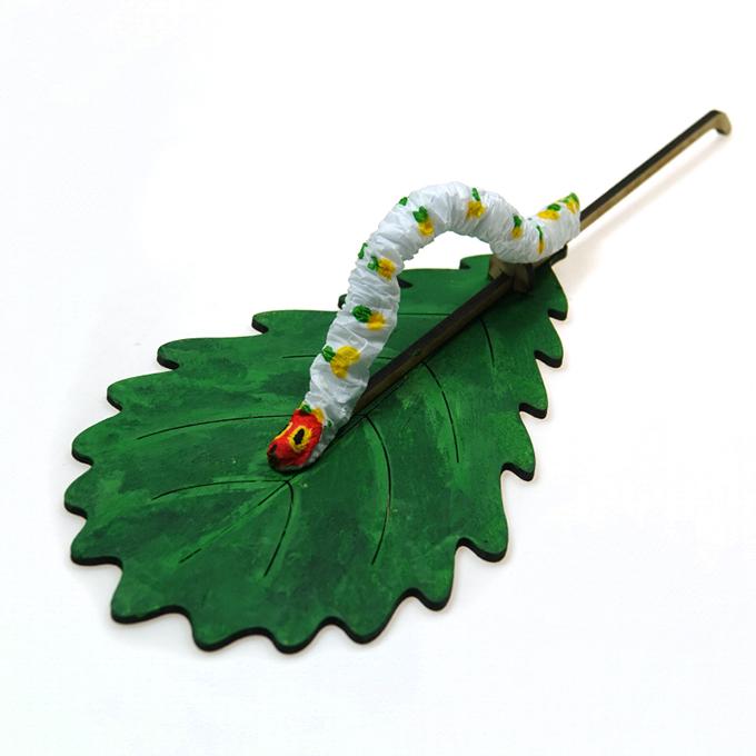 떡갈나뭇잎 애벌레